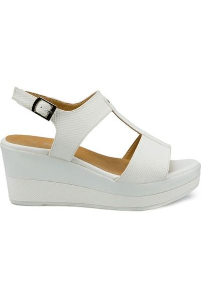 Polaris 315311.Z Beyaz Kadın Sandalet