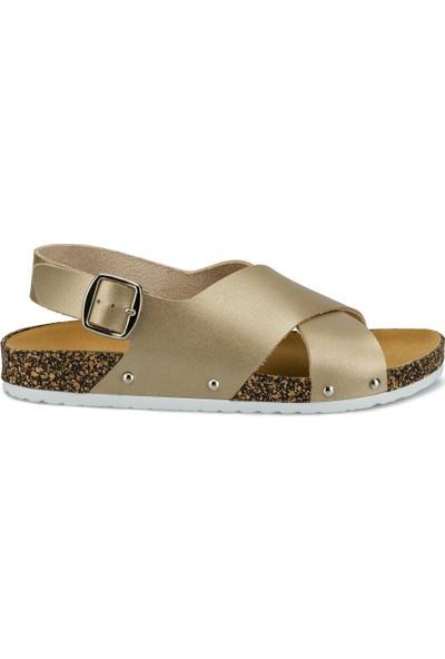 Polaris 315539.Z Altın Kadın Sandalet