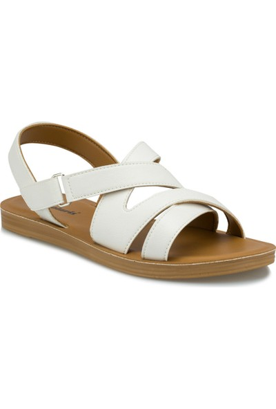 Polaris 315685.Z Beyaz Kadın Sandalet