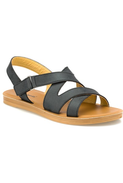 Polaris 315685.Z Siyah Kadın Sandalet