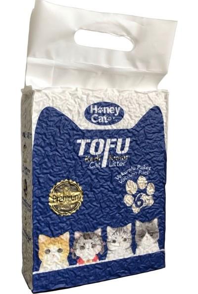Honey Cat Doğal Naturel Topaklanan Tofu Kedi Kumu 6 Lt