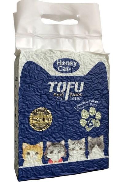 Honey Cat Doğal Yeşil Çay Kokulu Topaklanan Tofu Kedi Kumu 6 Lt