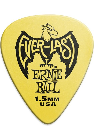 Ernie Ball Everlast Guitar Picks 1 Adet - 1.5mm - Yellow Pena