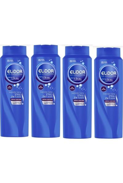 Elidor Kepeğe Karşı Etkili 2ın1 Saç Bakım Şampuanı 500 ml x 4