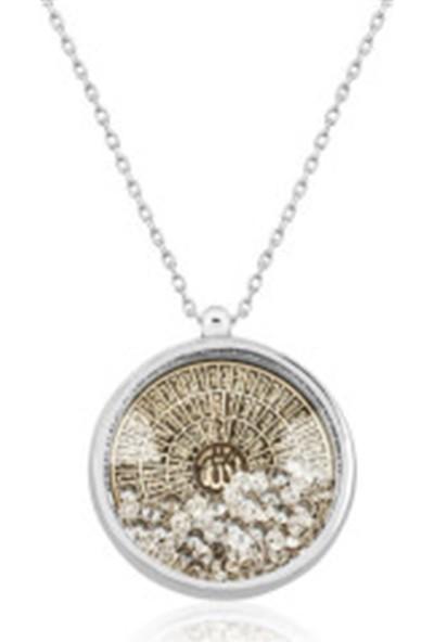 Gümüş Marketi 925 Esma-Ül Hüsna Yazılı Gümüş Bayan Kolye