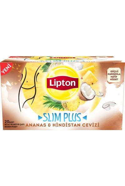 Lipton Slim Plus Ananas & Hindistan Cevizi 34gr Bitki ve Meyve Çayı