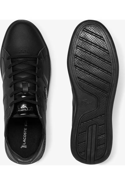 Lacoste Novas 120 3 Sma Erkek Siyah Deri Sneaker 739SMA0011.02H
