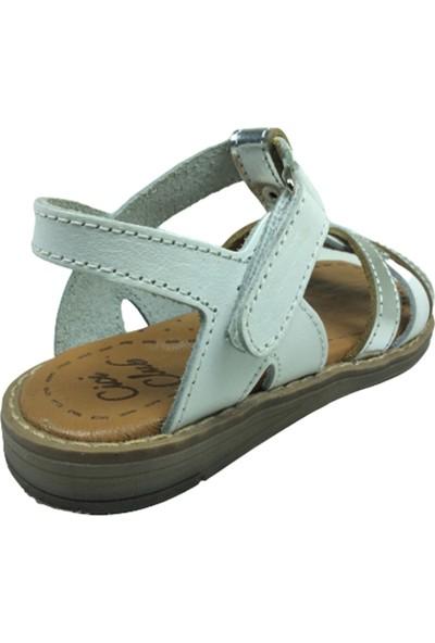 Cici Bebe AyakkabıPatik Kız Sandalet 741 Bilekten Cirtli Deri