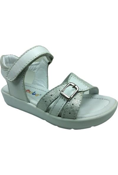 Cici Bebe AyakkabıPatik Kız Sandalet 601 Bilekten Cirtli Deri