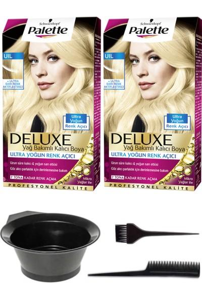 Schwarzkopf 2'li Palette Deluxe Ultra Yoğun Renk Açıcı, Sarı Renk Aktifleştirici Saç Boyası ve Saç Boyama Seti