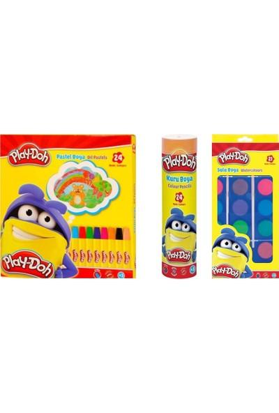 Play-Doh 3'lü Boyama Seti