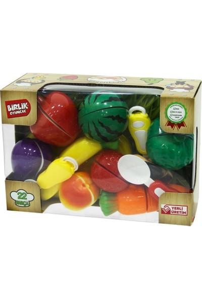 Birlik Oyuncak 22 Parça Oyuncak Meyve Sebze Kesme Seti