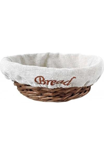 Groovy Ekmek Sepetı Hasır Bezlı Yuvarlak 22x7 cm