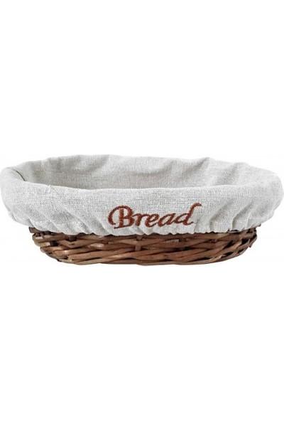 Groovy Ekmek Sepetı Hasır Bezlı Oval 24x17x7