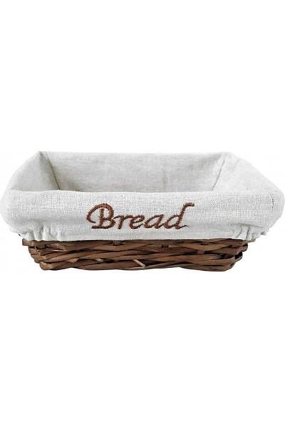 Groovy Ekmek Sepetı Hasır Bezlı Dıkdortgen 22x16x7 cm