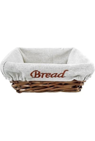 Groovy Ekmek Sepetı Hasır Bezlı Kare 19x19x7
