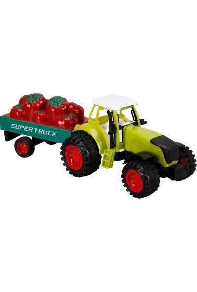 Birlik Oyuncak Biber Taşıyan Traktör Oyuncak Set