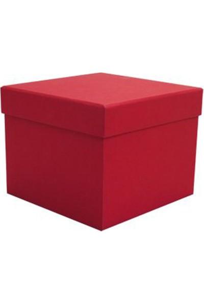 Bella Color Kırmızı Kare Hediye ve Çiçek Kutusu