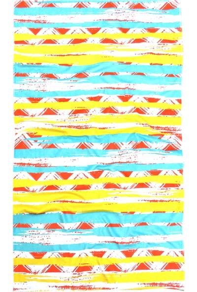 Hamur Plaj Havlusu Brush Zigzag Turuncu 80 x 150 cm