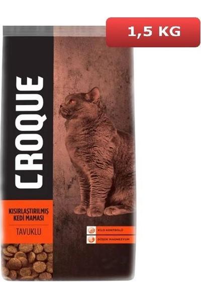 Croque Sterilised Tavuklu Kısırlaştırılmış Kedi Maması 1,5 kg