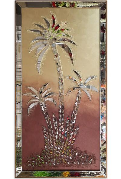 Atl Dekor Palmiye Altın Mozaik Ayna 80x155 cm