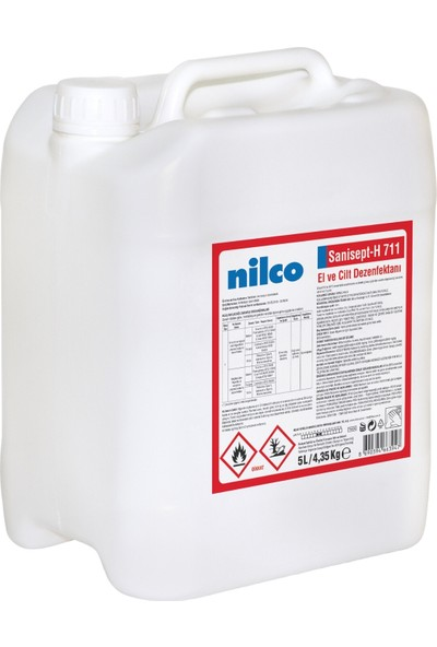Nilco Sanisept H711 El ve Cilt Dezenfektanı 5 lt