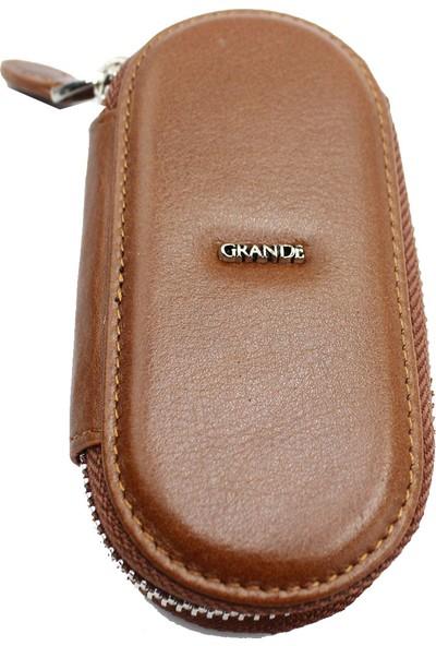 Grande 716 %100 Hakiki Deri Anahtarlık Taba