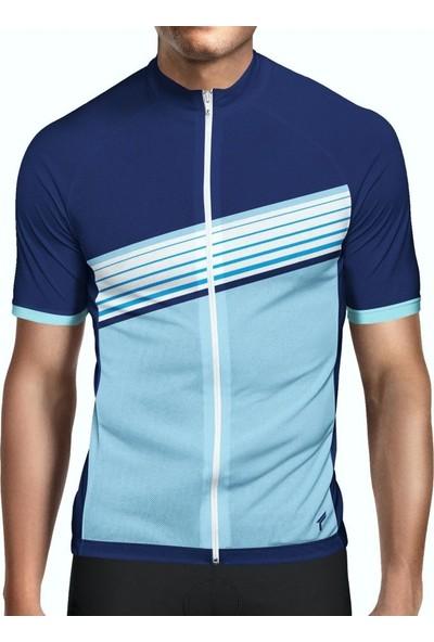 Freysport Crosswise-1 Bisiklet Forması (Kısa Kol - Lacivert, Mavi)