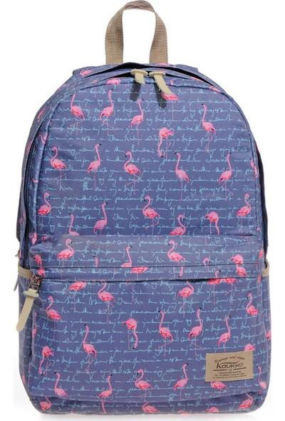 Kaukko Flamingo Sırt Çantası Gri K1130
