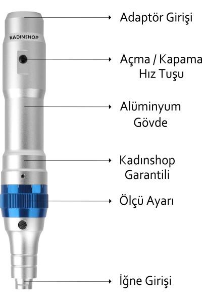 Dr. Pen A6 Şarjlı Dermapen (Dr. Pen Türkiye Garantili) Mikro Iğneleme Cihazı 2 Bataryalı Derma Pen Dermaroller Cihazı