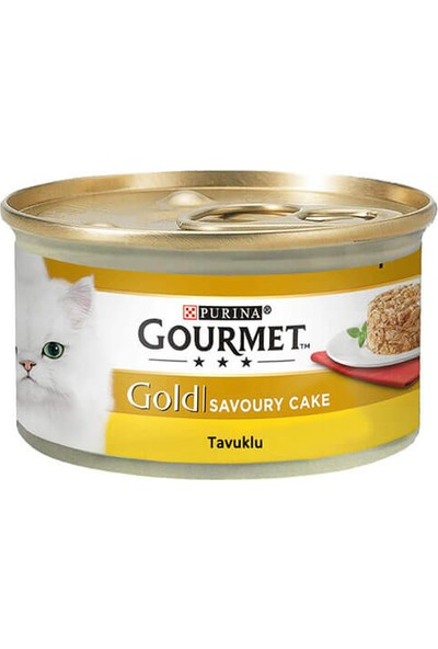 Gourmetgold Savoury Cake Tavuklu Kedi Konserve 85 gr 12 Lı i