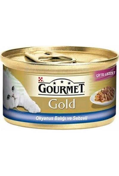 Gourmet Gold Okyanus Balıklı,sebzeli 85 gr 12 Adet i