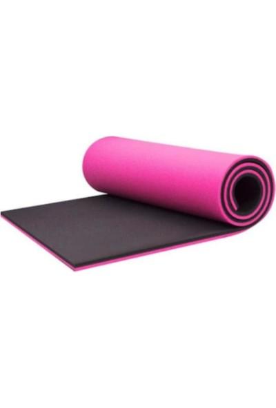 Hanfendi 16 mm Çift Taraflı Pembe - Siyah Pilates Matı - Pilates Minderi 180 cm x 60 cm x 1,6 cm