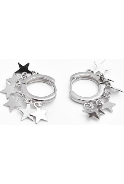 La'dess Accessories & Collections Sıralı Gümüş Yıız Küpe