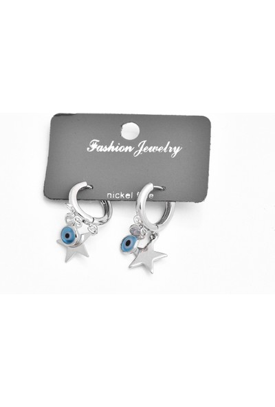 La'dess Accessories & Collections Mavi Boncuk Gümüş Yıız Kolye