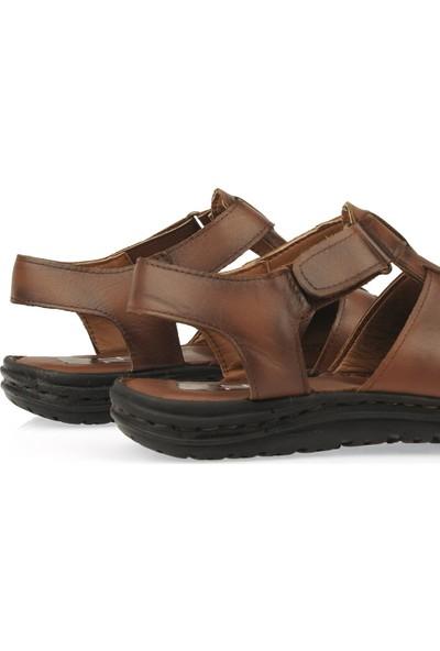 Ziya Erkek Deri Sandalet 101143 T195
