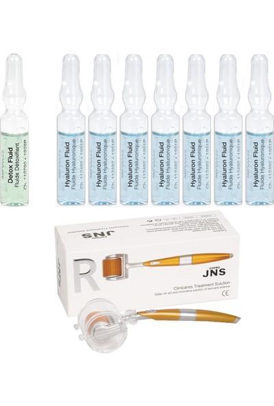 Janssen Cosmetıcs Ampul / Serum Derin Nemlendirici & Dermaroller Cilt Bakım Paketi 9 Ürün