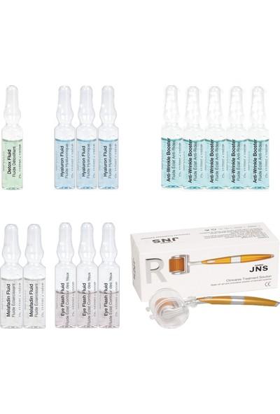 Janssen Cosmetıcs Ampul / Serum Komple Cilt ve Göz Antı-Age & Dermaroller Cilt Bakım Paketi 15 Ürün