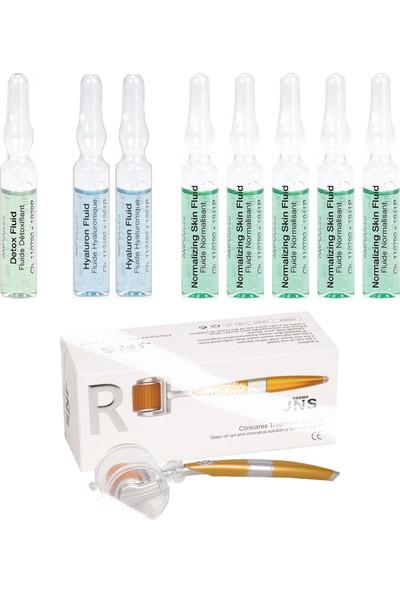 Janssen Cosmetıcs Ampul / Serum Gözenek Sıkılaştırıcı & Dermaroller Cilt Bakım Paketi 9 Ürün