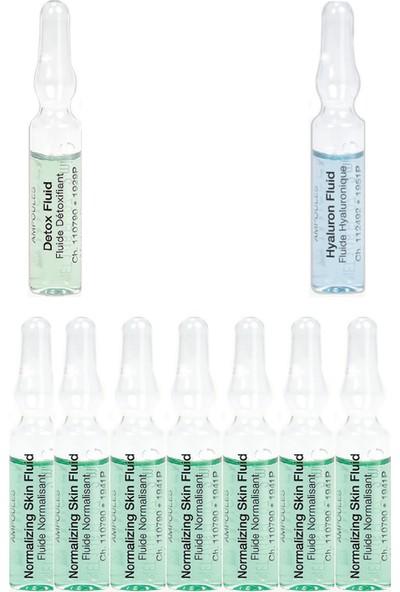 Janssen Cosmetıcs Ampul / Serum Akne Sivilce Karşıtı Yağlı Cilt Bakım Paketi 9 Ürün