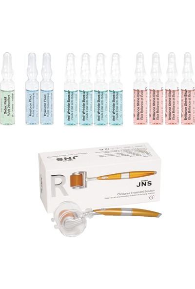 Janssen Cosmetıcs Ampul / Serum Delüx Antı-Age & Dermaroller Cilt Bakım Paketi 12 Ürün