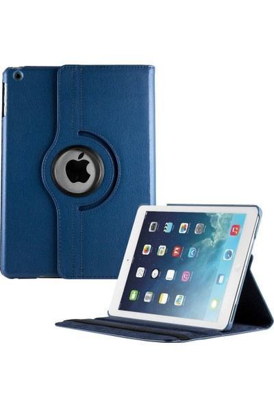CoverZone Apple iPad Pro 11 2020 Dönerli Standl Kılıf 360 Derece Dönerli Standlı Lacivert