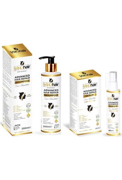 Trixohair Saç Dökülmesine Karşı Saç Bakım Şampuanı ve Saç Serumu Kadınlar İçin 200 ml + 60 ml