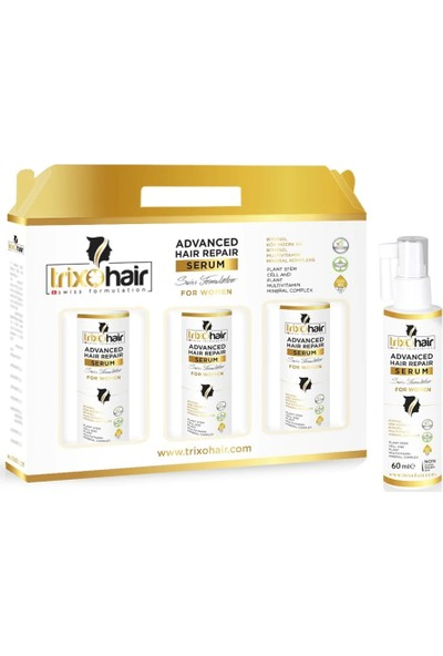 Trixohair Saç Dökülmesine Karşı Saç Bakım Serumu Kadınlar İçin 60 ml X3 Adet