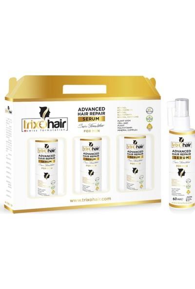 Trixohair Saç Dökülmesine Karşı Saç Bakım Şampuanı ve Saç Serumu Erkekler İçin 3 Aylık Set