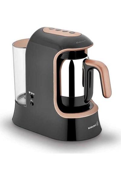 Korkmaz Kahvekolik Aqua Siyah/Rosagold Otomatik Kahve Makinesi