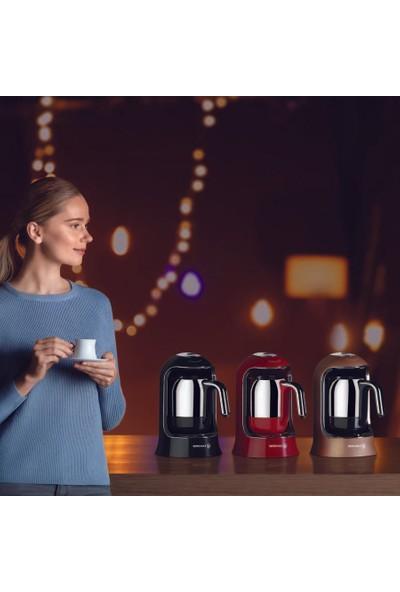 Korkmaz A860 Kahvekolik Kahve Makinesi Pembe