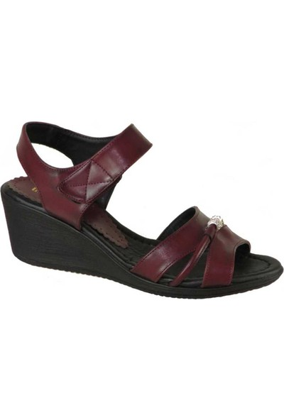 Mavişim 022 Ortopedi Dolgu Taban Siyah Kadın Sandalet