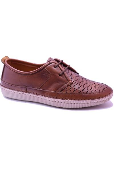 Ayakkabı Burada 1415 Ortopedi Deri Kadın Günlük Ayakkabı