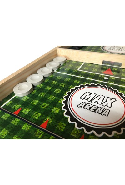 Bemi Max Arena Slingpuck Hızlı Sapan Oyunu Ahşap 9 Taş ve 3 Taş